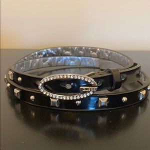 Guess Black Studded Belt
